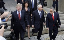 Former International Monetary Fund Chief Dominique Strauss-Kahn at Federal Court in New York