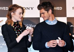 """The Amazing Spider-Man 2"" stage greeting in Tokyo"