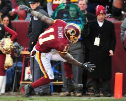 Redskins' Devin Thomas scores in Landover, Maryland