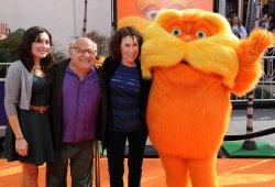 "Danny DeVito attends the premiere of ""Dr. Seuss' The Lorax"" in Universal City, California"
