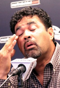 Marlins Manager Ozzie Guillen holds a press conference Miami