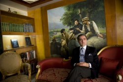 Afghan Presidential Candidate Abdullah at Press Conference in Kabul
