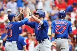 Chicago Cubs Kris Bryant hits three run home run