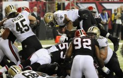 The Atlanta Falcons play the New Orleans Saints in Atlanta