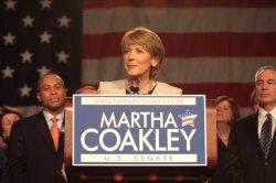 Democratic candidate for U.S. Senate seat Martha Coakley defeated.