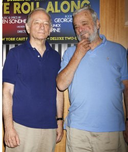 "Stephen Sondheim and the cast of ""Merrily We Roll Along"" attend CD Signing in New York"