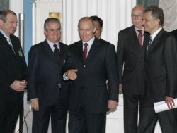 RUSSIAN PRESIDENT PUTIN MEETS WITH G8 ENERGY MINISTERS IN MOSCOW