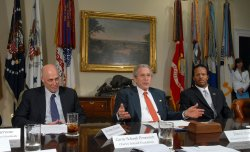 BUSH HOLDS MEETING ON FINANCIAL LITERACY AT WHITE HOUSE