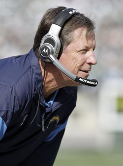 San Diego Chargers Norv Turner at MetLife Stadium in New Jersey