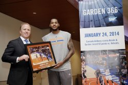 New York Knicks Carmelo Anthony honored