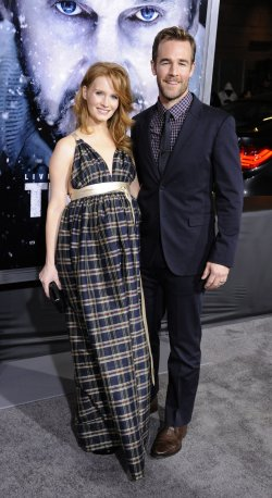 "James Van Der Beek and wife Kimberly Brook attend the premiere of the film ""The Grey"" in Los Angeles"