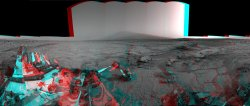 Mars Stereo View from 'John Klein' to Mount Sharp