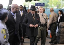 Joe Jackson arrives at the courthouse for Dr. Conrad Murray's manslaughter trial in Los Angeles