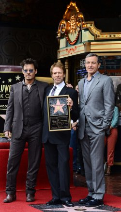 Jerry Bruckheimer receives a star on the Hollywood Walk of Fame in Los Angeles