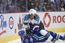 First game of NHL Western Conference Finals Vancouver Canucks home to San Jose Sharks