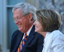 Former Speaker of the House Dennis Hastert's official portrait is unveiled in Washington