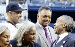 Nelson Mandela honored with a plaque at Yankee Stadium