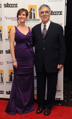 Elliott Gould and Sara Rue attend the Hollywood Film Awards in Beverly Hills