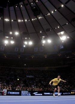 Tennis Legend Pete Sampras at the BNP Paribas Showdown in New York