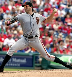 San Francisco Giants pitcher Barry Zito in the 4th.