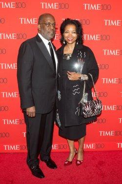 Bernard Tyson and Denise Bradley-Tyson arrive at the TIME 100 Gala in New York