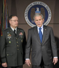 President Bush visits the National Security Agency