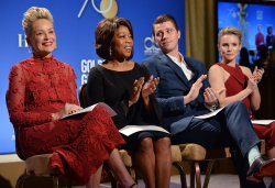 Sharon Stone, Alfre Woodard, Garrett Hedlund and Kristen Bell announce the nominees for the 75th Golden Globe Awards in Beverly Hills