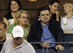Actor Oliver Platt at the U.S. Open Tennis Championships in New York