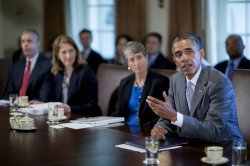 President Obama holds a Cabinet Meeting in Washington, D.C.