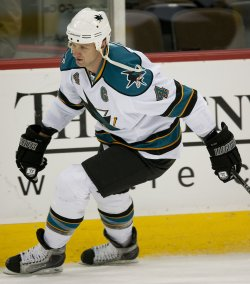 Sharks Blake Skates in Denver