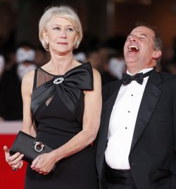 Helen Mirren and Michael Hoffman arrive at the Rome International Film Festival