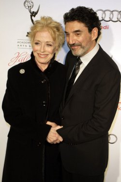 AActress Holland Taylor and producer Chuck Lorre arrive for the Academy of Television Arts & Sciences 21st Annual Hall of Fame Ceremony in Beverly Hills