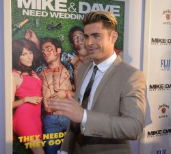"Zac Efron attends the ""Mike and Dave Need Wedding Dates"" premiere in Los Angeles"