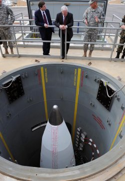 Secretary of Defense Gates tours missile defense facilities in Alaska.
