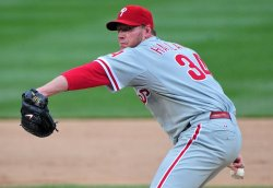 Phillies' Roy Halladay pitches in Washington