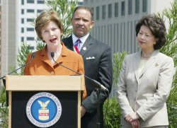 FIRST LADY LAURA BUSH IN NEW ORLEANS