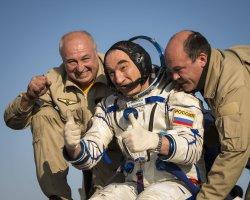 Expedition 40 Soyuz TMA-12M Landing in Kazakhstan