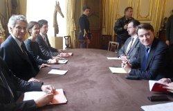 PM VILLEPIN MEETS EU MANDELSON
