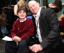 Jeff Feagles arrives for pictures at the Muscular Dystrophy Association's 2010 Muscle Team Gala in New York