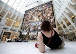 Michelangelo's Sistine Chapel exhibit at Oculus in New York