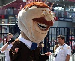 Nationals' Mascot Teddy Roosevelt in Washington