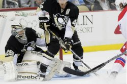 Pittsburgh Penguins goalie Marc-Andre Fleury in Pittsburgh