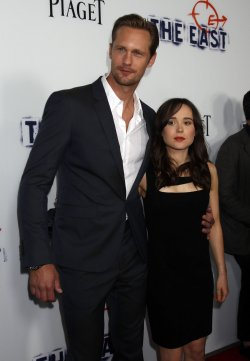 """Alexander Skarsgard and actress Ellen Page attend """"The East"""" premiere in Los Angeles"""
