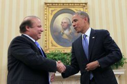 President Obama meets with Prime Minister Nawaz Sharif of Pakistan in Washington