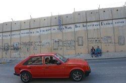 Palestinians Near Israeli Separation Wall, West Bank