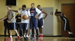 Atlanta Hawks practice at Miller Grove High School