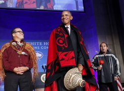 US President Barack Obama attends the 2016 White House Tribal Nations Conference