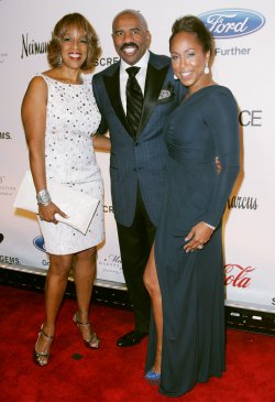 Gayle King , Steve and Marjorie Harvey attend the Steve and Marjorie Harvey Foundation Gala New York