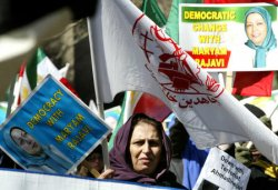 RALLY AGAINST IRAN'S PRESIDENT IN NEW YORK