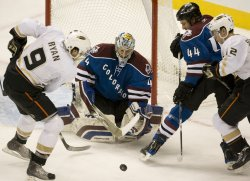 Ducks Ryan Looks for Rebound Against Avalanche Goalie Anderson in Denver